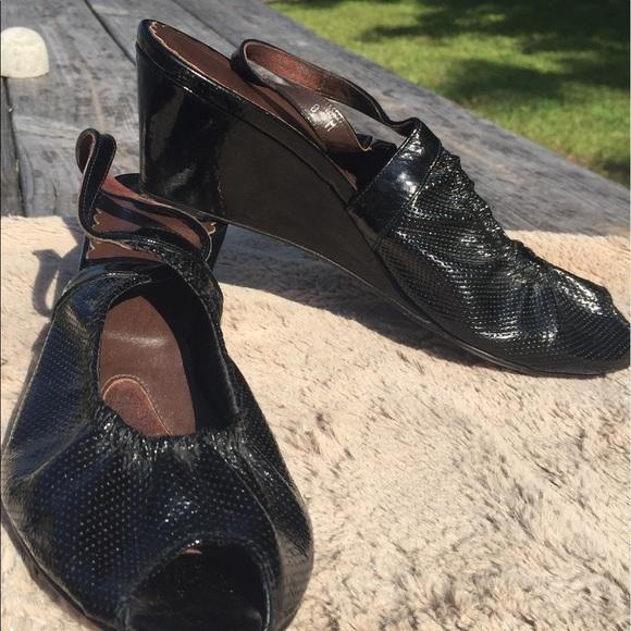 Donald J. Pliner Shoes - Donald j Pliner black peep toe wedge